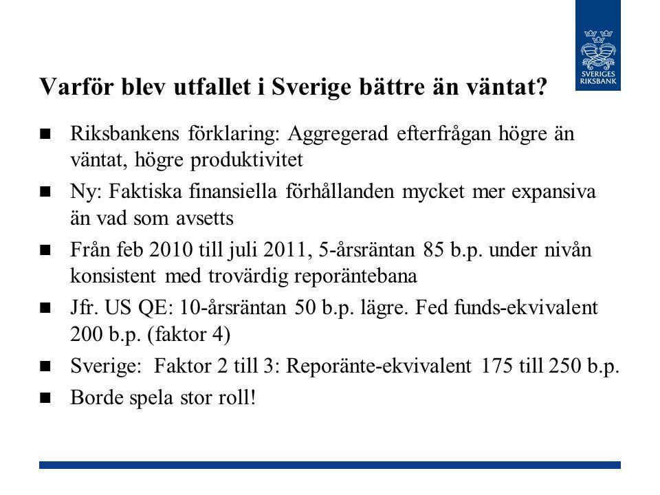 Varför blev utfallet i Sverige bättre än väntat