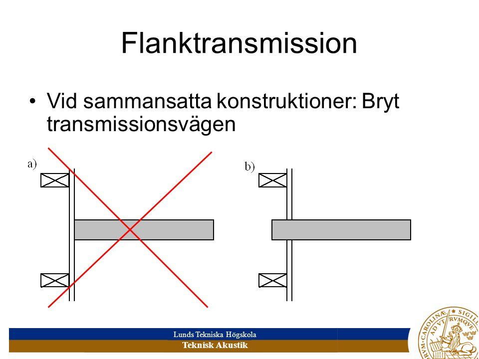 Flanktransmission Vid sammansatta konstruktioner: Bryt transmissionsvägen
