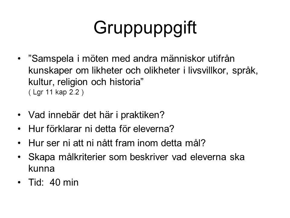 Gruppuppgift