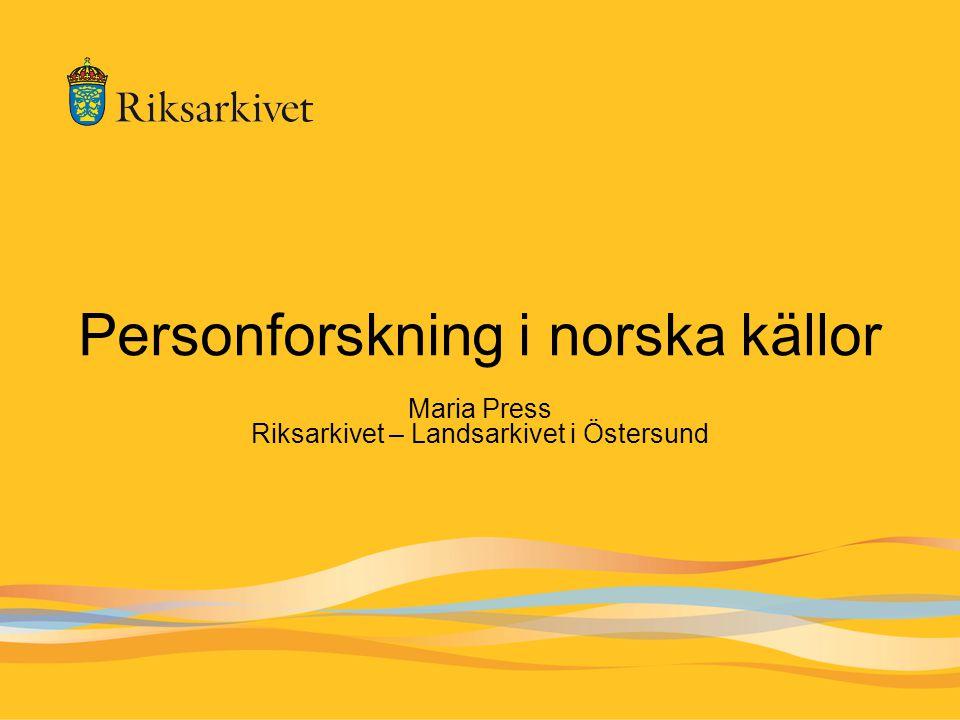 Personforskning i norska källor