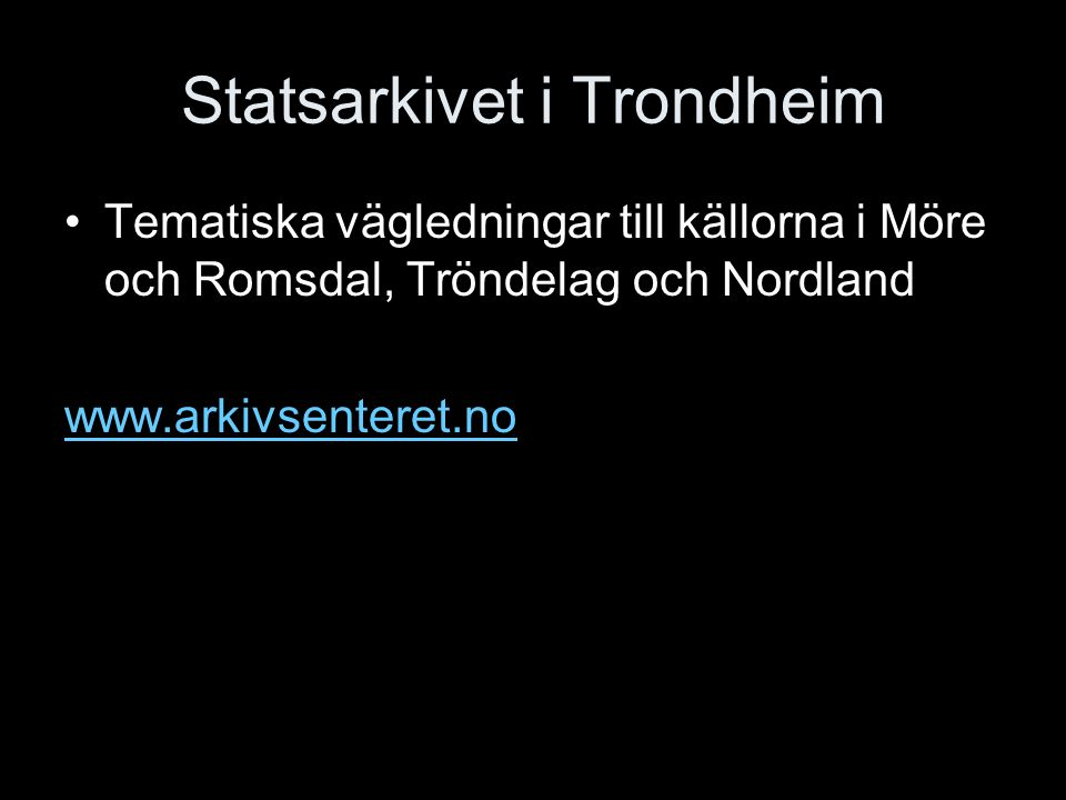 Statsarkivet i Trondheim