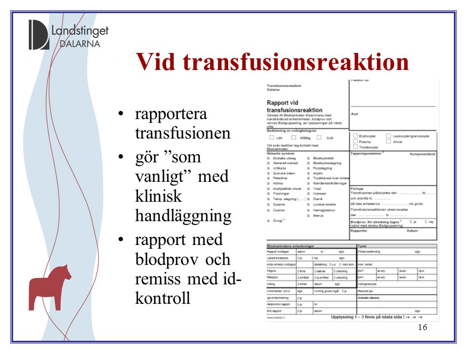 Vid transfusionsreaktion