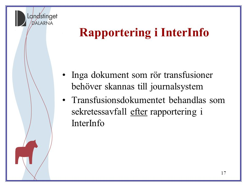 Rapportering i InterInfo