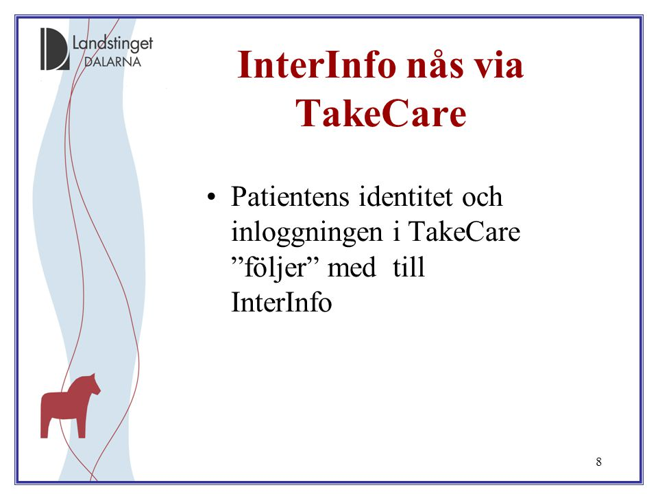 InterInfo nås via TakeCare