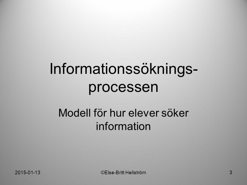 Informationssöknings-processen