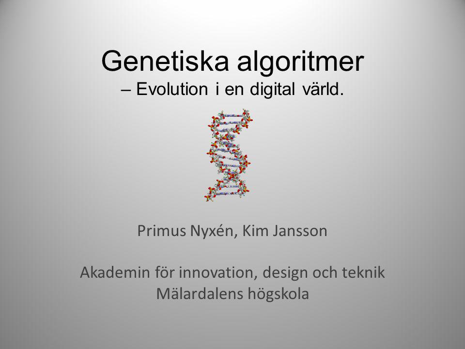 Genetiska algoritmer – Evolution i en digital värld.