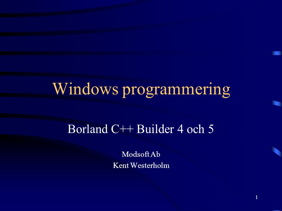 Windows programmering