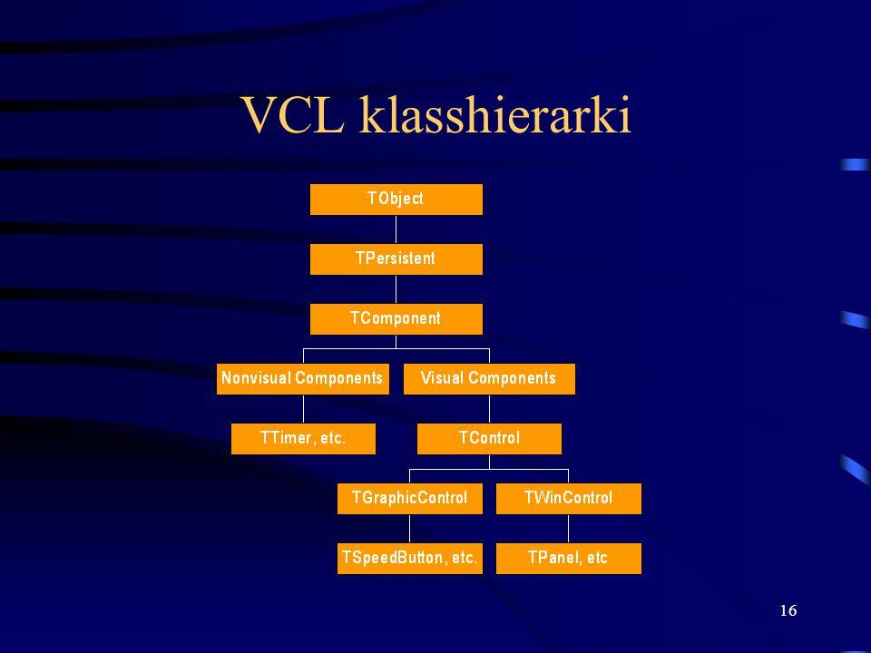 VCL klasshierarki