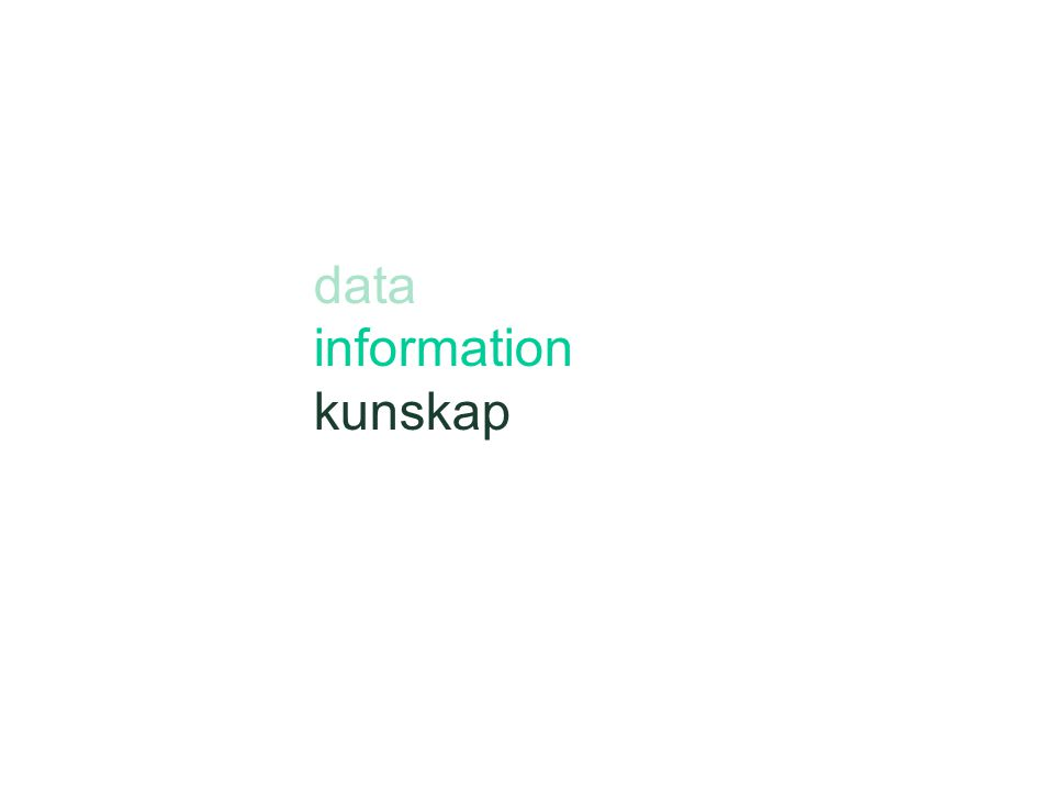 data information kunskap