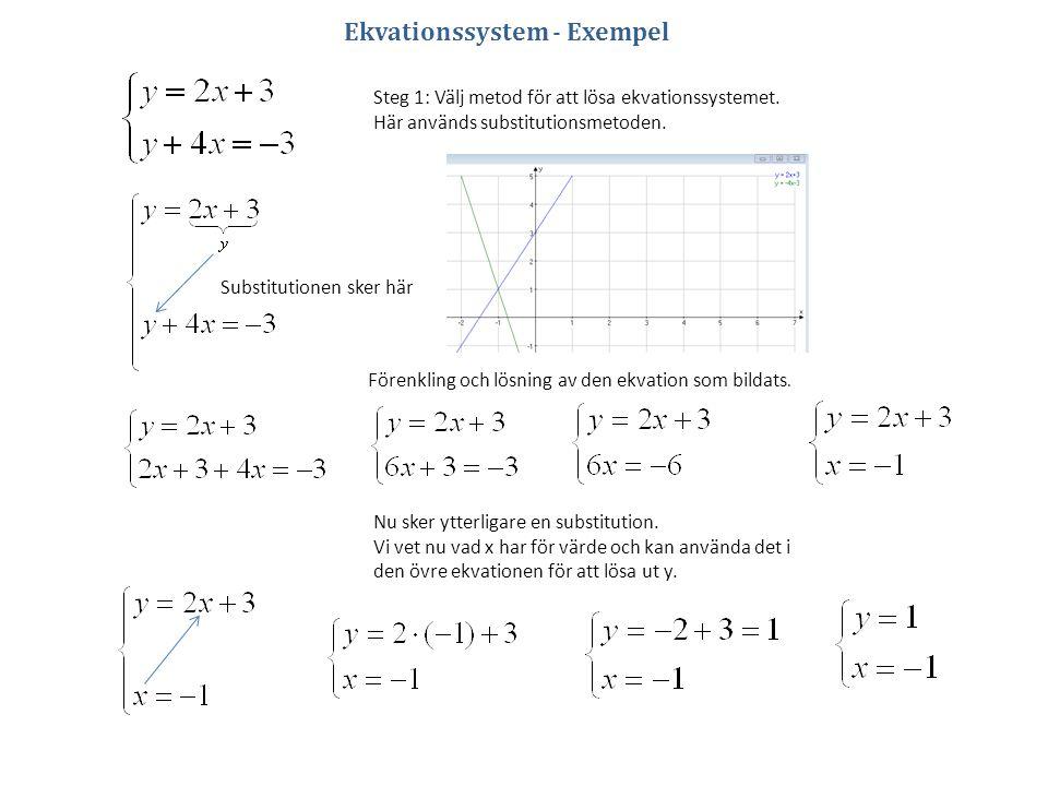 Ekvationssystem - Exempel