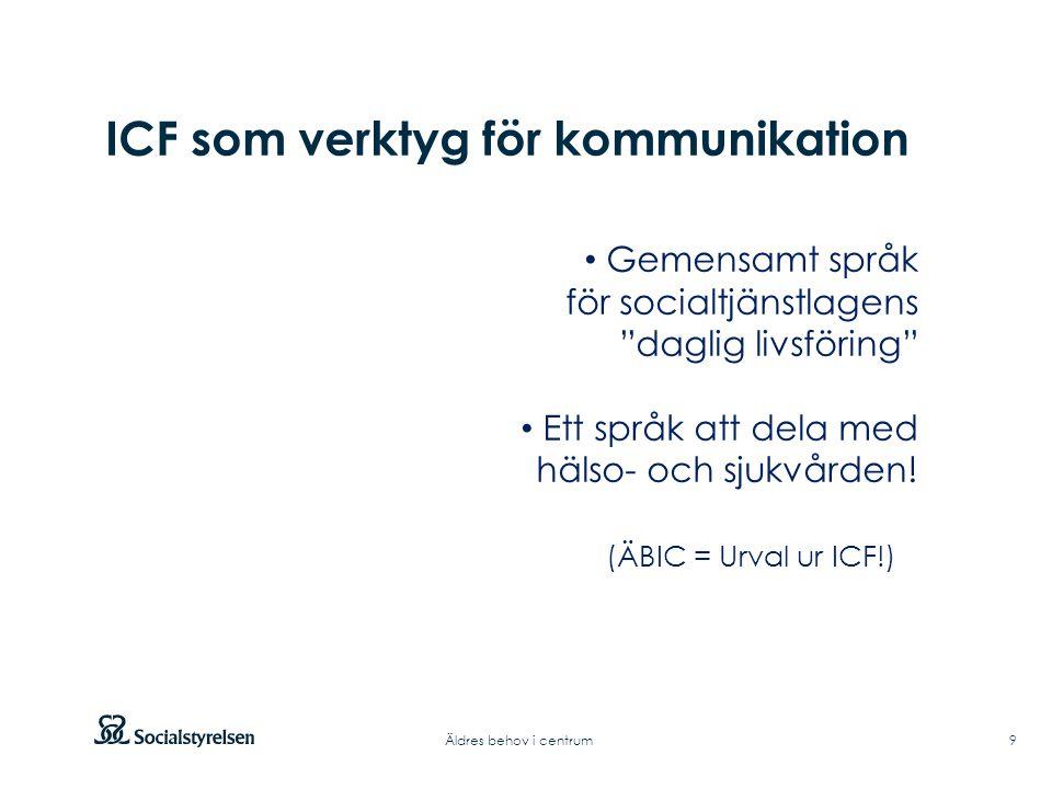 ICF som verktyg för kommunikation
