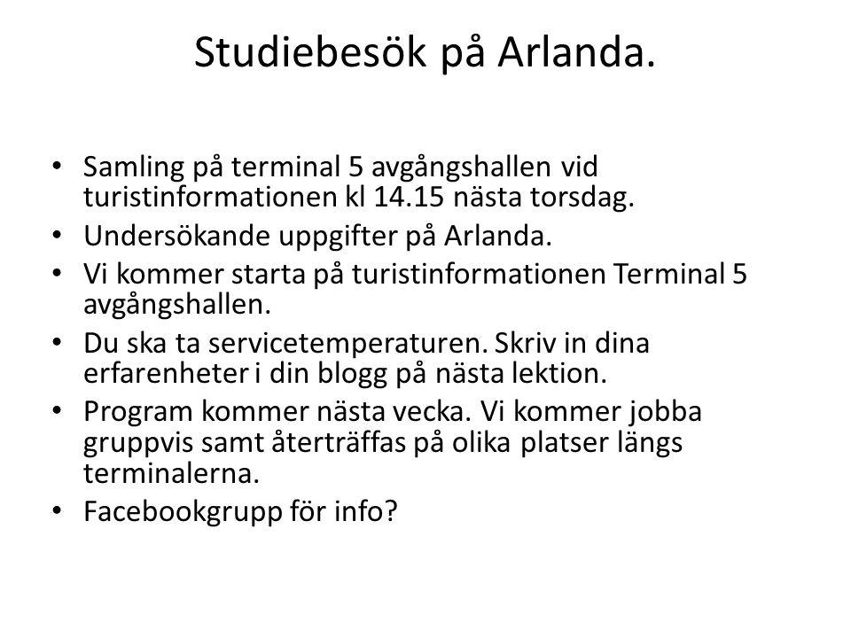 Studiebesök på Arlanda.