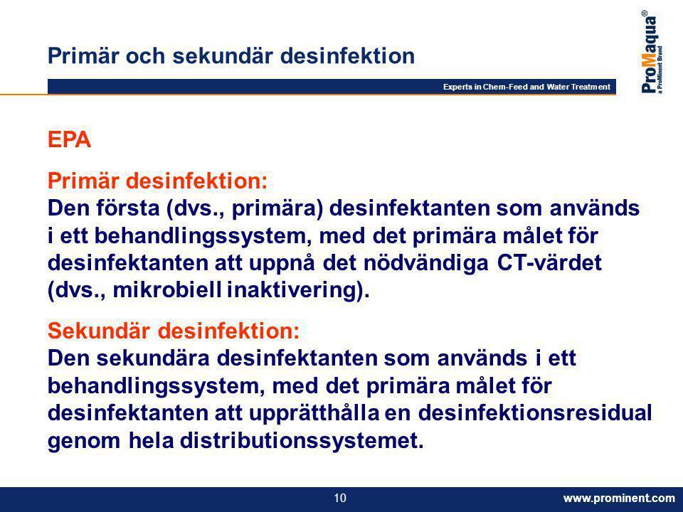Primär och sekundär desinfektion