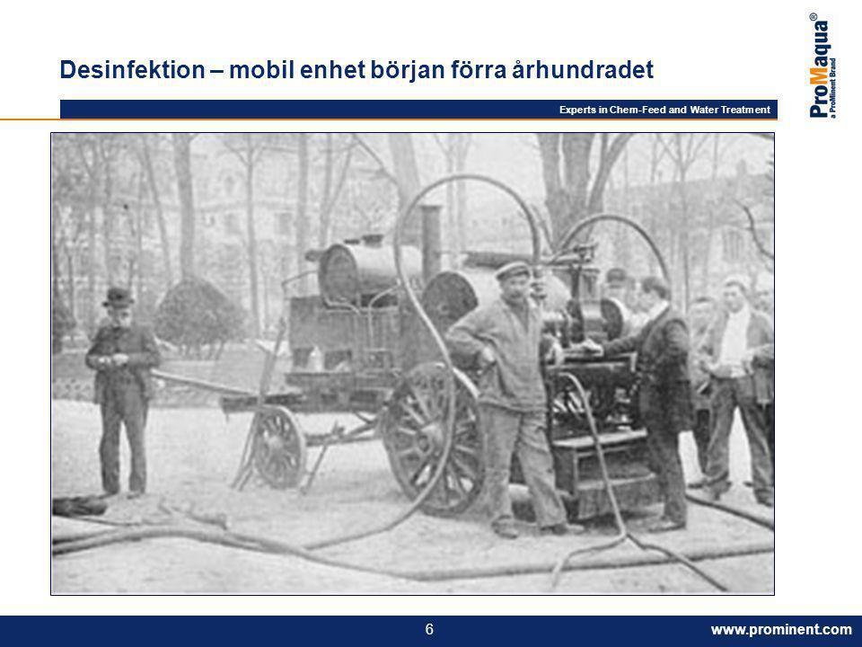 Desinfektion – mobil enhet början förra århundradet