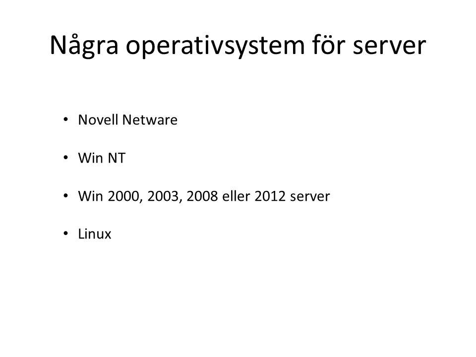 Några operativsystem för server