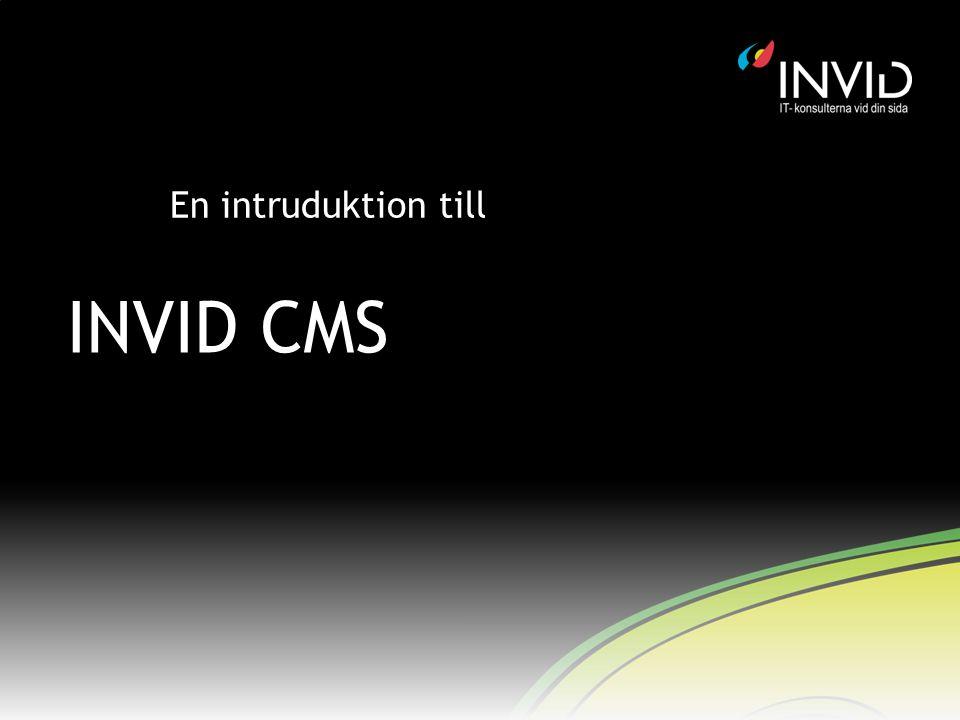 En intruduktion till INVID CMS