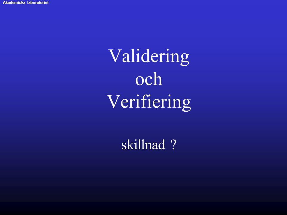 Validering och Verifiering skillnad