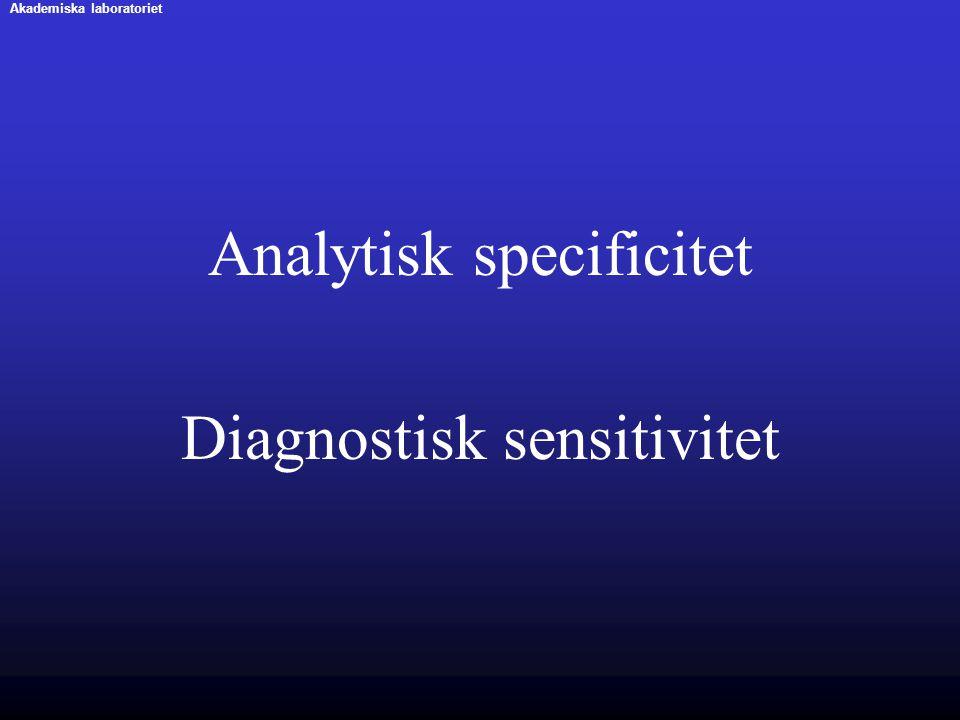 Analytisk specificitet Diagnostisk sensitivitet