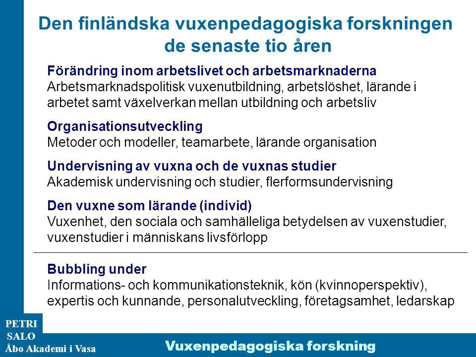 Den finländska vuxenpedagogiska forskningen