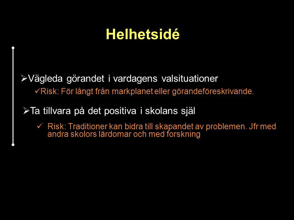 Helhetsidé Vägleda görandet i vardagens valsituationer