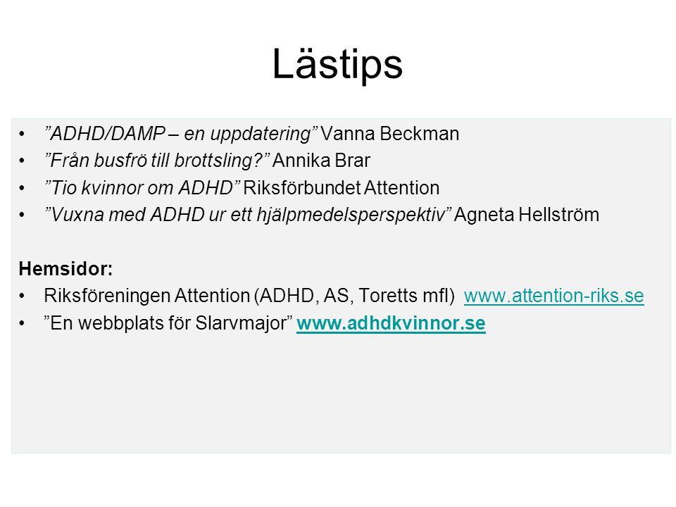 Lästips ADHD/DAMP – en uppdatering Vanna Beckman