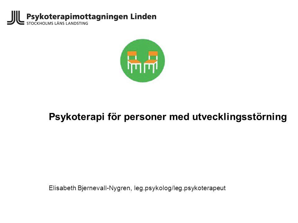 Psykoterapi för personer med utvecklingsstörning