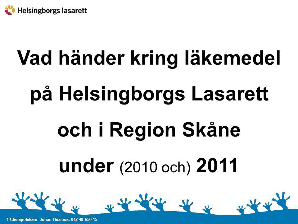 Vad händer kring läkemedel på Helsingborgs Lasarett