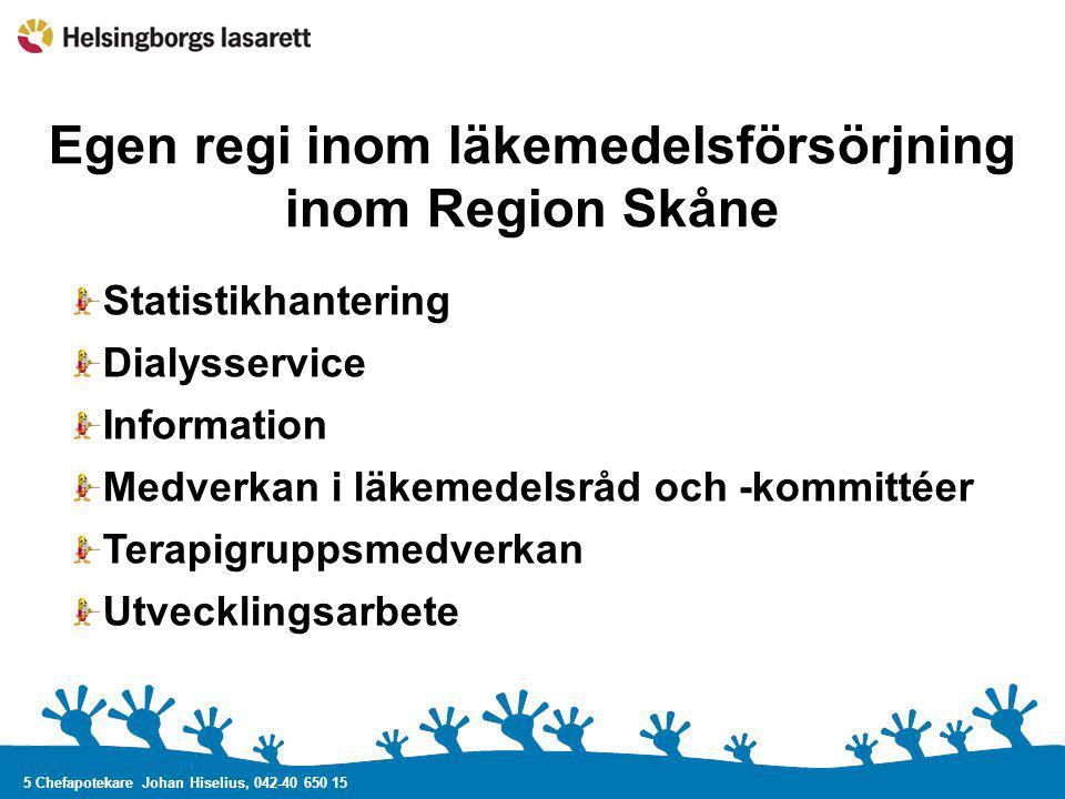 Egen regi inom läkemedelsförsörjning inom Region Skåne