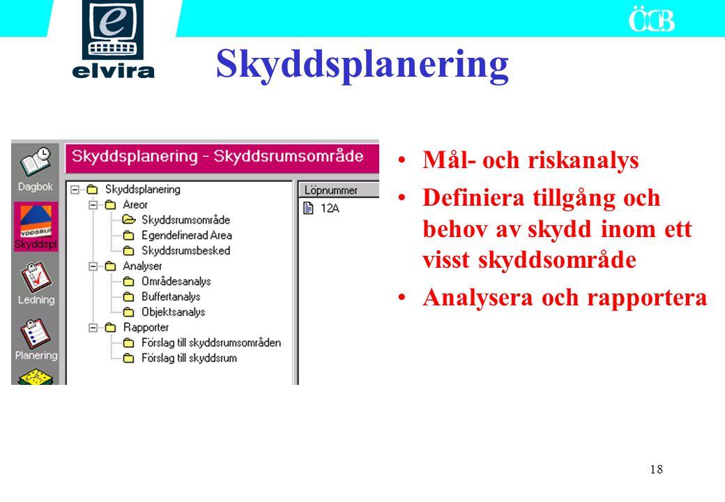 Skyddsplanering Mål- och riskanalys