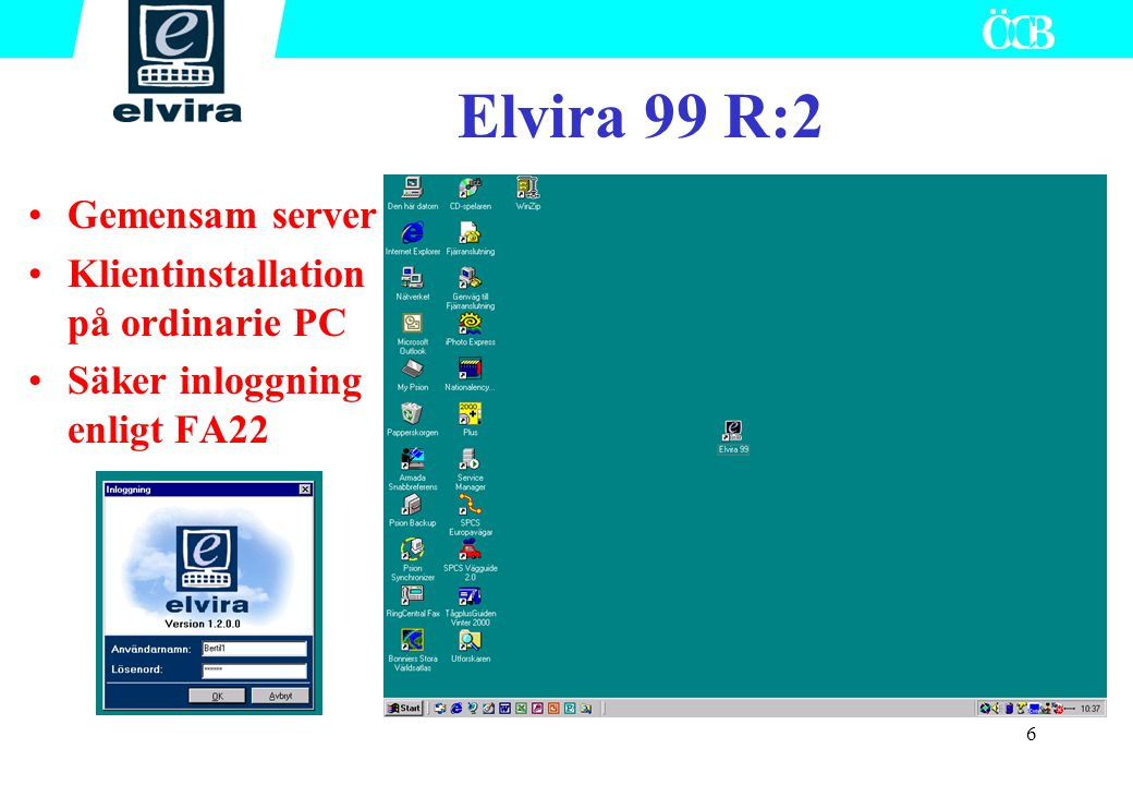 Elvira 99 R:2 Gemensam server Klientinstallation på ordinarie PC
