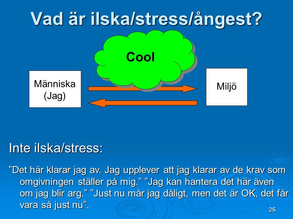 Vad är ilska/stress/ångest