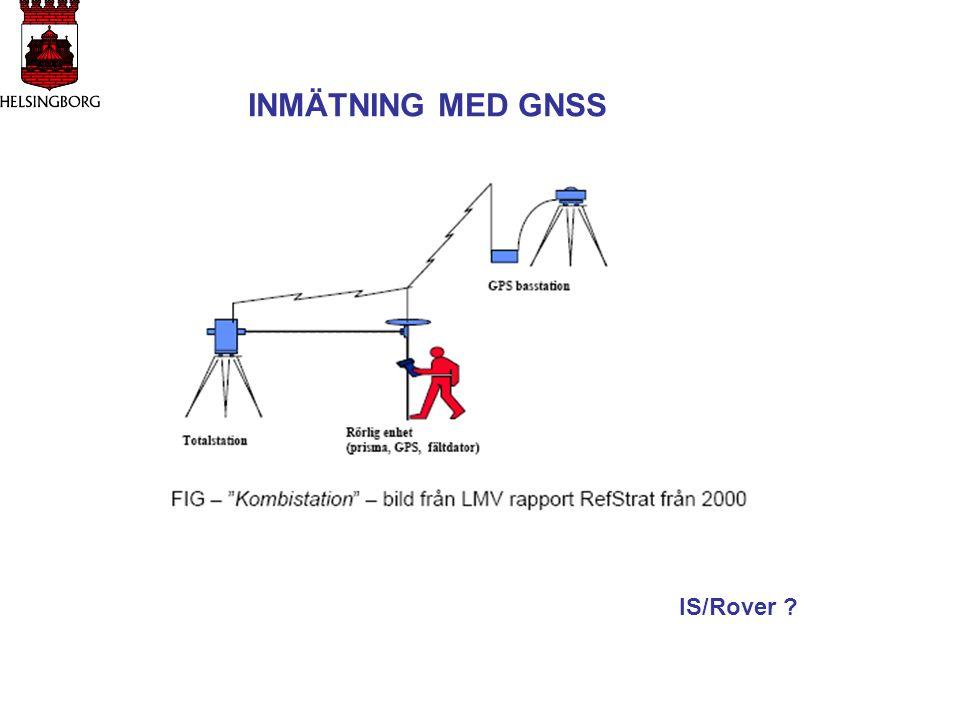 INMÄTNING MED GNSS IS/Rover