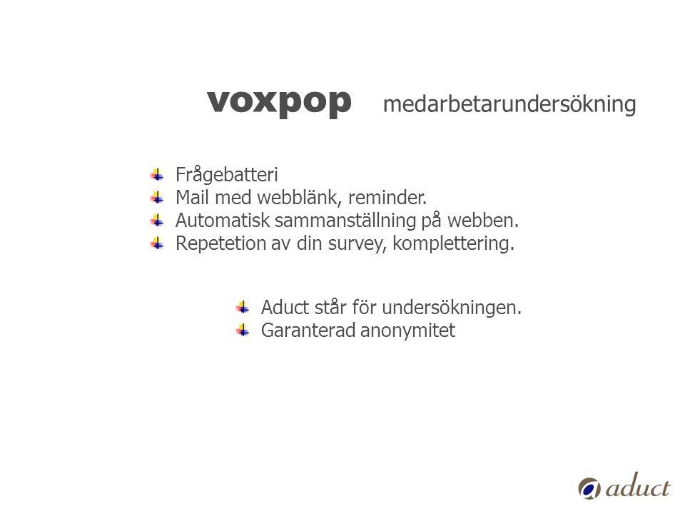voxpop medarbetarundersökning
