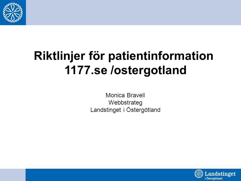 Riktlinjer för patientinformation