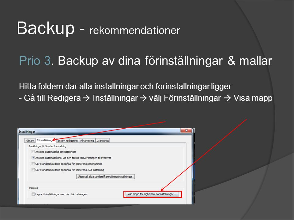 Backup - rekommendationer