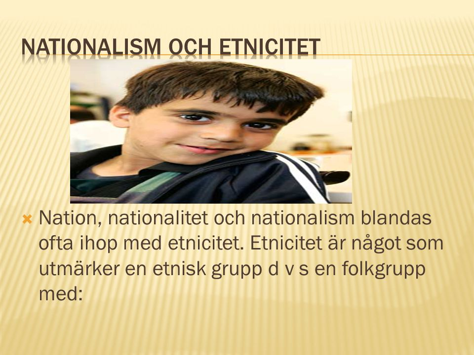 Nationalism och Etnicitet
