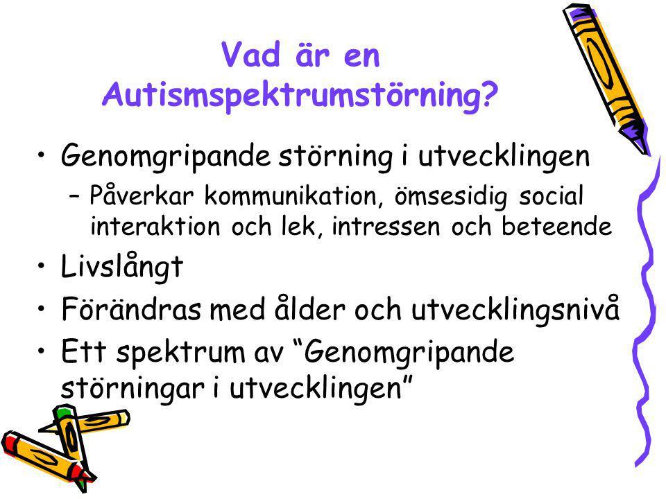 Vad är en Autismspektrumstörning
