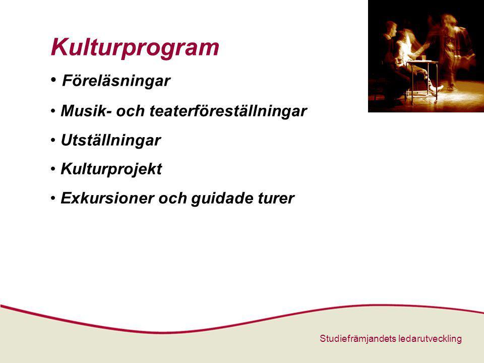 Kulturprogram Föreläsningar Musik- och teaterföreställningar