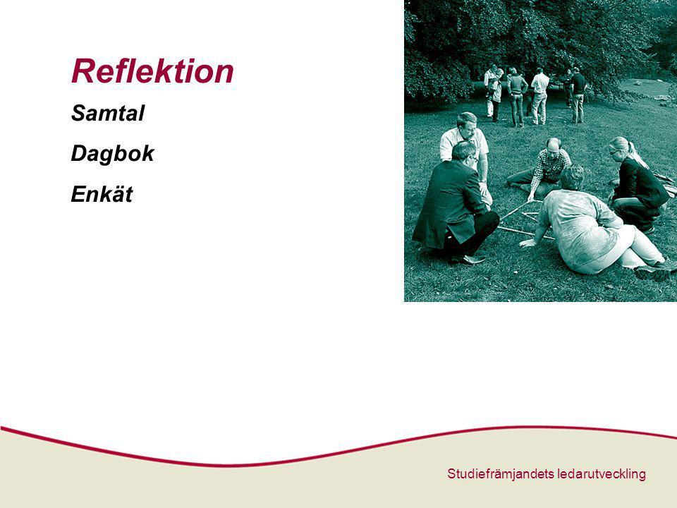 Reflektion Samtal Dagbok Enkät