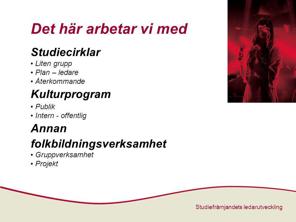 Det här arbetar vi med Studiecirklar Kulturprogram Annan