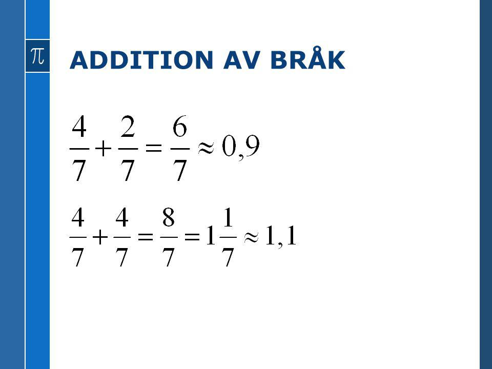 ADDITION AV BRÅK