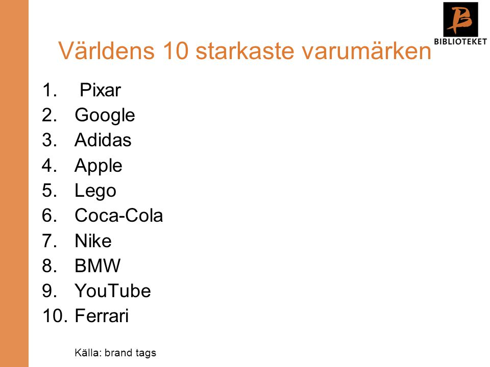 Världens 10 starkaste varumärken
