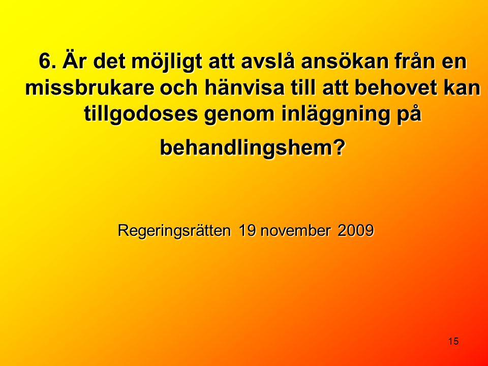 Regeringsrätten 19 november 2009