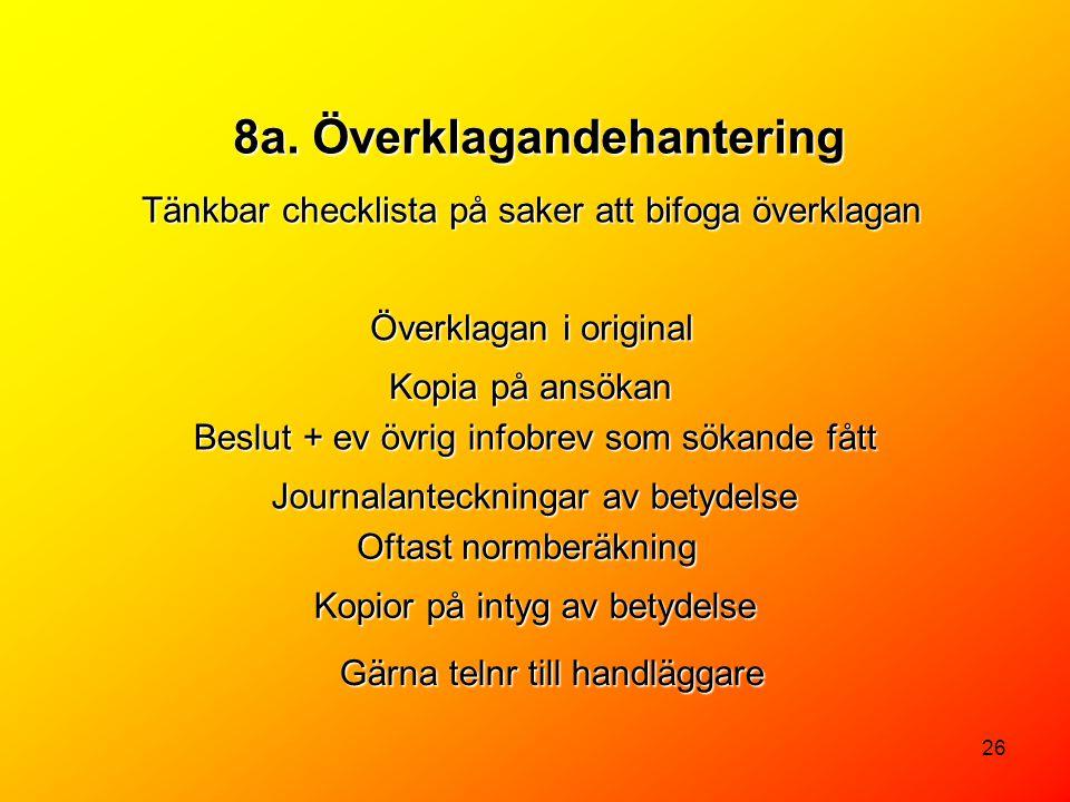 8a. Överklagandehantering