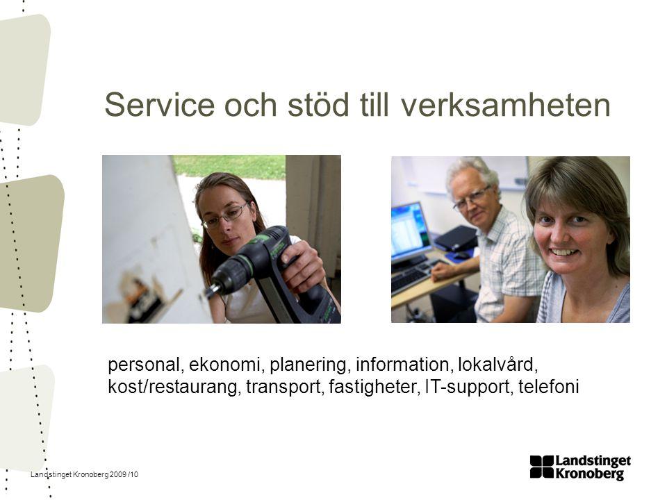 Service och stöd till verksamheten
