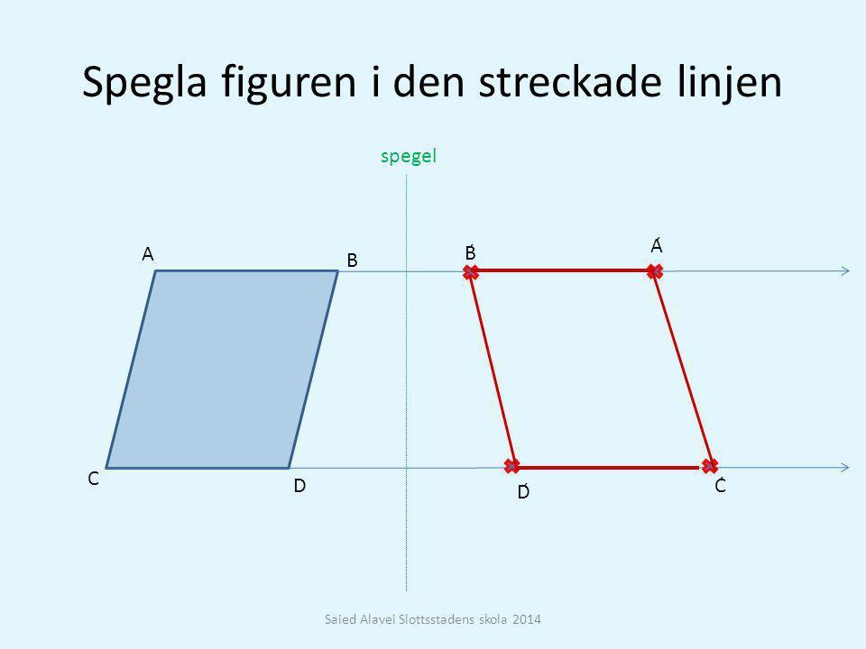 Spegla figuren i den streckade linjen