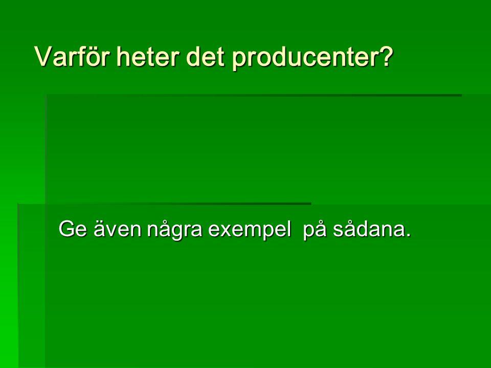 Varför heter det producenter