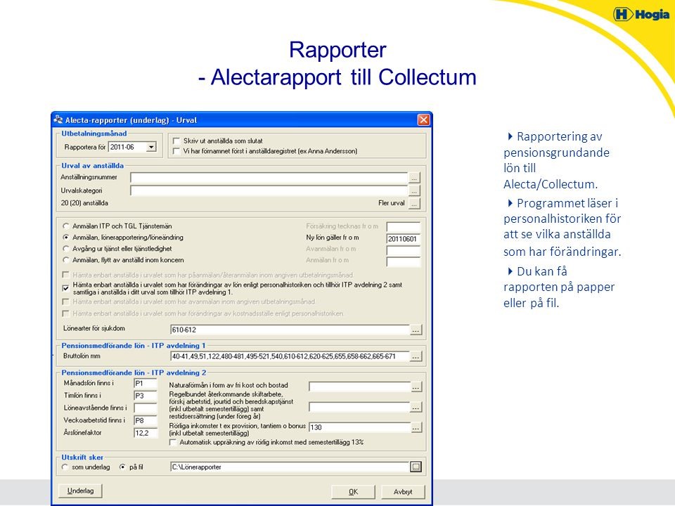 Rapporter - Alectarapport till Collectum