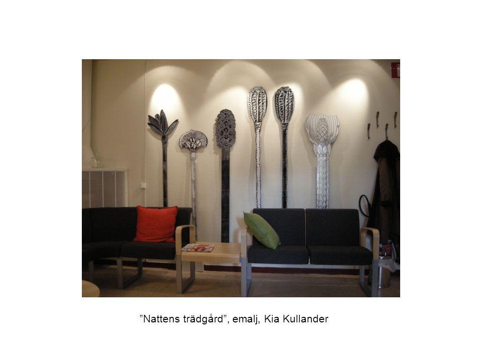 Nattens trädgård , emalj, Kia Kullander