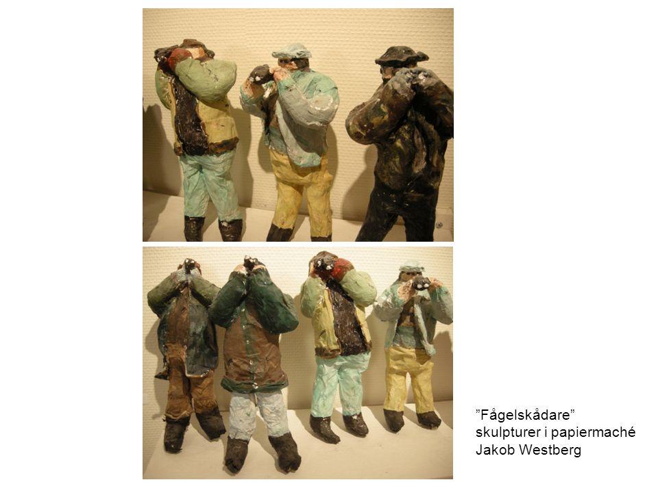 Fågelskådare skulpturer i papiermaché Jakob Westberg